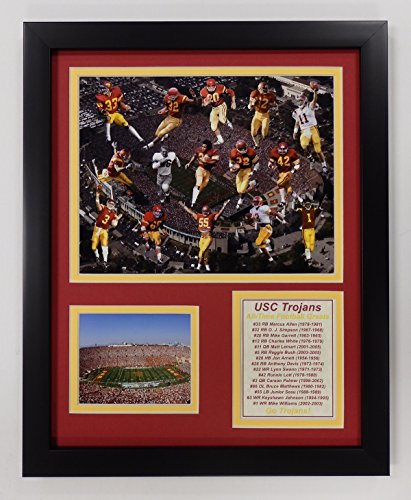 Legends Never Die NCAA USC Trojans Football Greats Double Matted Photo Frame, 12