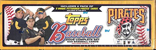 2006 Topps MLB Baseball EXCLUSIVE MASSIVE 664 Card Factory Set Special Pirates Version! Includes all Cards of Series 1 & 2 with Derek Jeter, Ken Griffey Jr, Ichiro, Mike Piazza, Chipper Jones & (Topps Set)