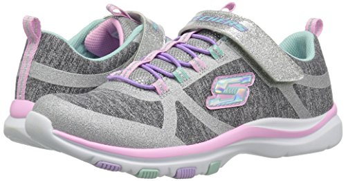 Skechers Kids Girls' Trainer LITE- Jazzy Jumper Sneaker, GYMT, 13 Medium US Little by Skechers (Image #6)