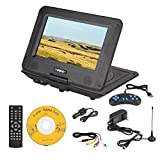 Bewinner 9.8in Portable DVD Player for Kids 3D Stereo Game Playing Hundreds of TV Channels HD DVD Player with PW Cut Memory 270° Rotation, Car Swivel Screen Support U Disk SD Card, Kids Gift(US Plug)