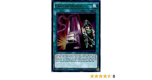 Yugioh Card of Demise DUPO-EN050 1st Ultra Rare Near Mint Fast Shipping!
