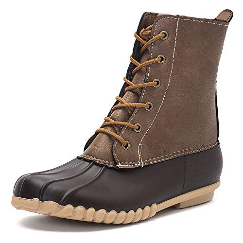 Image result for DKSUKO Women's Winter Duck Boots with Waterproof Zipper