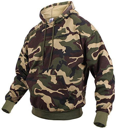 (Rothco Camo Pullover Hooded Sweatshirt, L, Woodland)