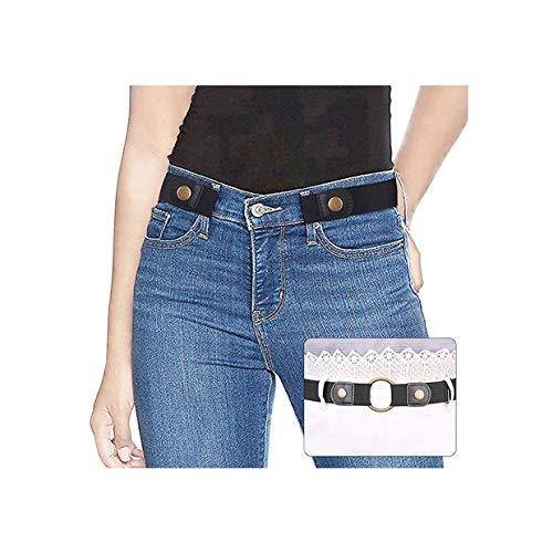 SUOSDEY Elastischer Gürtel Damen,Gürtel Ohne Schnalle Unsichtbarer Gürtel für Jeans Hosen Justierbar Stretchgürtel Gürtel für Damen Herren