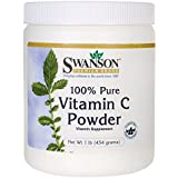 Swanson 100% Pure Vitamin C Powder 1 lb (454 g) Pwdr