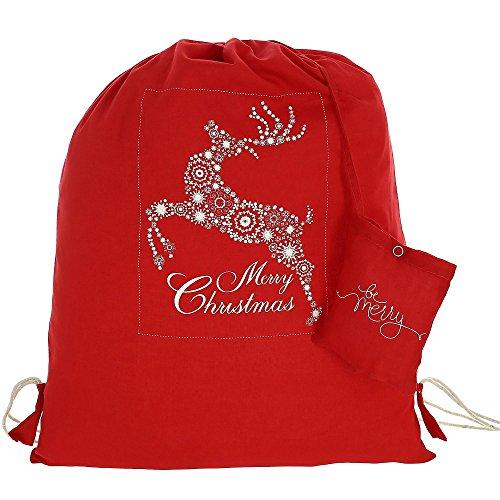 Swayam Vielzweck Weihnachten Drawstringspitze Rucksack - Wiederverwendbare Eco Friendly Cotton Einkaufstasche