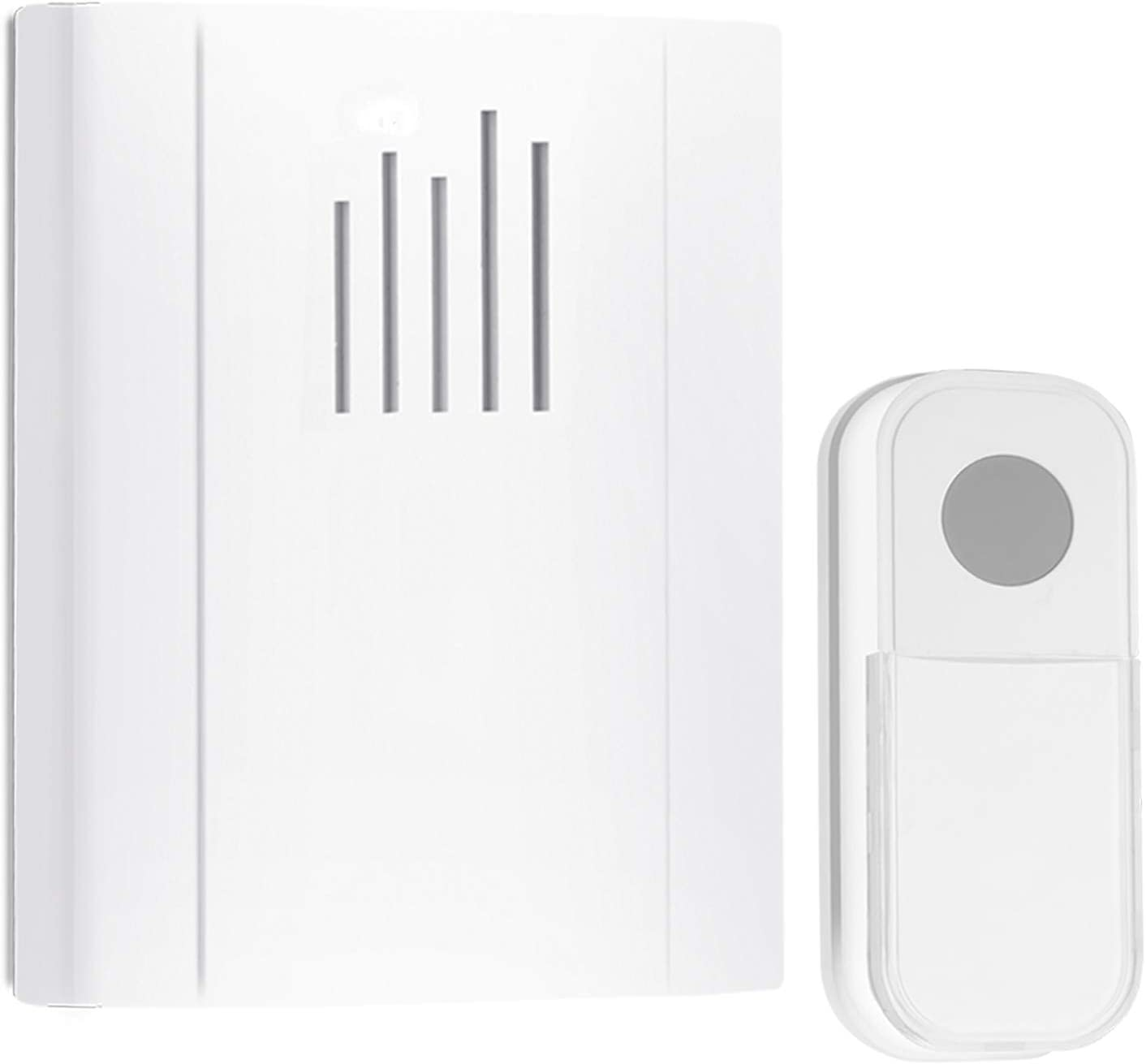 Wireless Doorbell,Waterproof Door Chime Kit Operating 1300 feet with 36 Melodies, Name Plate For Home Office School,98189+90022