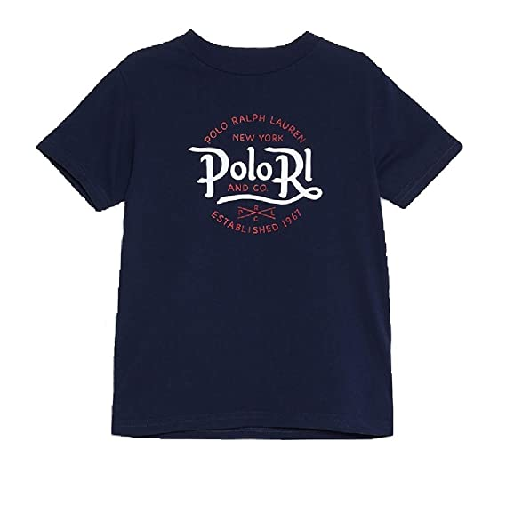 POLO RALHP LAUREN - Camiseta - Manga Corta - Navy tee: Amazon.es ...