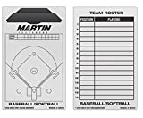 NEW Martin Dry Erase Baseball Softball 2 Sided 11''x16'' Coaches Board & Marker