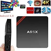 KINUT TV Box A95x 2G 8G Android 6.0 Amlogic S905X Quad core Cortex A53 2.0GHz 64bit