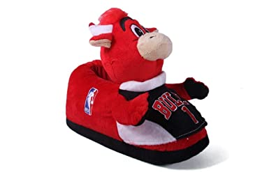 3bbd588886659 CBUMS-1 Chicago Bulls - Small - Happy Feet Mens and Womens NBA Mascot  Slippers
