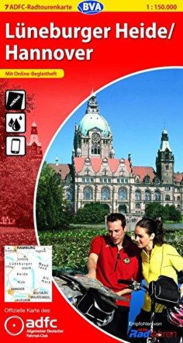 ADFC-Radtourenkarte 7 Lüneburger Heide /Hannover 1:150.000, reiß- und wetterfest, GPS-Tracks Download und Online-Begleitheft (ADFC-Radtourenkarte 1:150000)