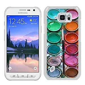 Beautiful Samsung Galaxy S6 Active Cover Case ,Newest And Durable Designed Case With Pastel Watercolor Paint Box Set White Samsung Galaxy S6 Active Case Unique And Cool Phone Case