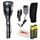 Nitecore MH41 2150 Lumen Rechargeable LED Flashlight with 2x 18650 Batteries, Car Adapter, and LumenTac Battery Organizer