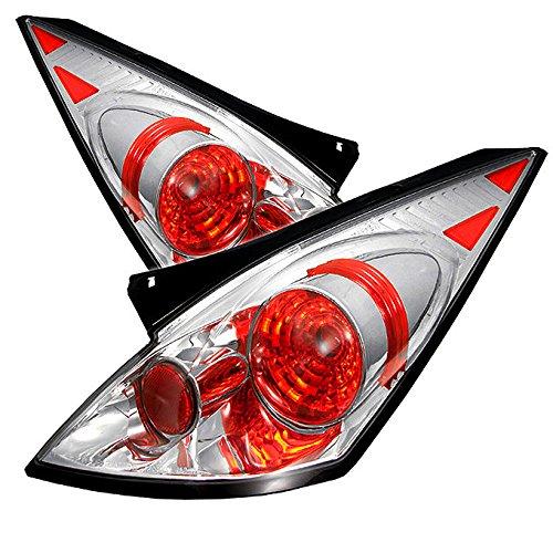 - For 03-05 Nissan 350Z Fairlady Z33 JDM Chrome Housing Tail Brake Lights Lamp Assembly L+R