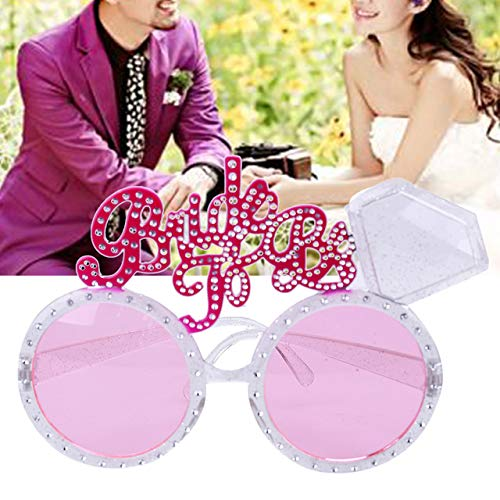 BeesClover Party Glasses Pink Diamond Bride to Be Sunglasses Wedding Decoration Hen Party Bridal Shower Favors Show