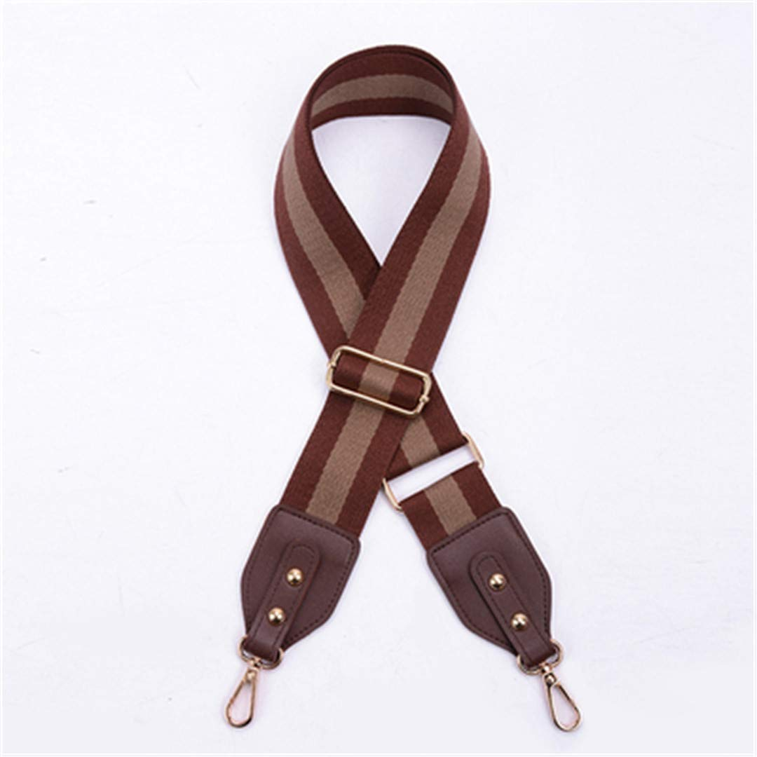 5Cm Wide Bag Strap Belt Shoulder Strap Canvas Cotton Fabric Adjustable 88~140Cm Bags DIY Accessories Chocolate