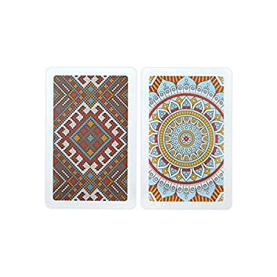 Copag Neo Culture 100% Plastic Playing Cards, Bridge Size, Jumbo Index: Sports & Outdoors