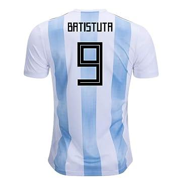 2018-19 Argentina Home Football Soccer T-Shirt Camiseta (Gabriel Batistuta 9)