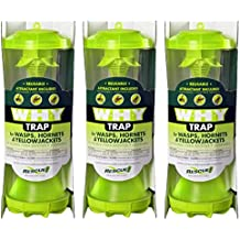 Rescue WHYTR WHY Trap For Wasps/Hornets/Yellow Jackets (3 TRAPS)