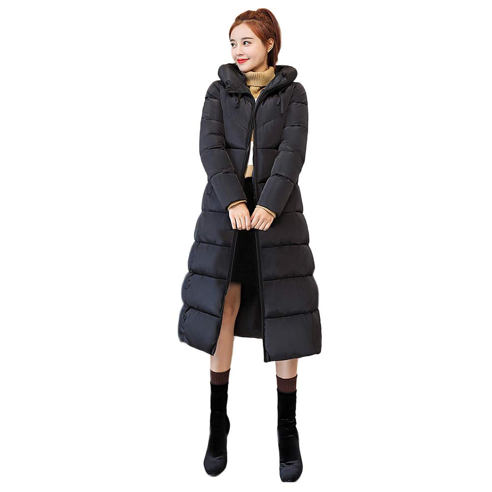 Black XX-Large Black XX-Large 2018 Women Warm Coat Slim Fit Hooded Casual Outwear,Ladies Thick Fur Collar Jacket Outfits