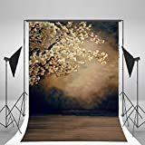Lfeey Vinyl Thin Backdrop 3x5ft Photography Background Scenic Theme Ancient Pure Color Flowers Beauty Photo Realistic Effect Attractive Backdrop,1(W)x1.5(H)m For Photo Studio Props