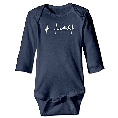 Price comparison product image Triathlon Heartbeat New Style Toddler Funny Romper Baby Onesie