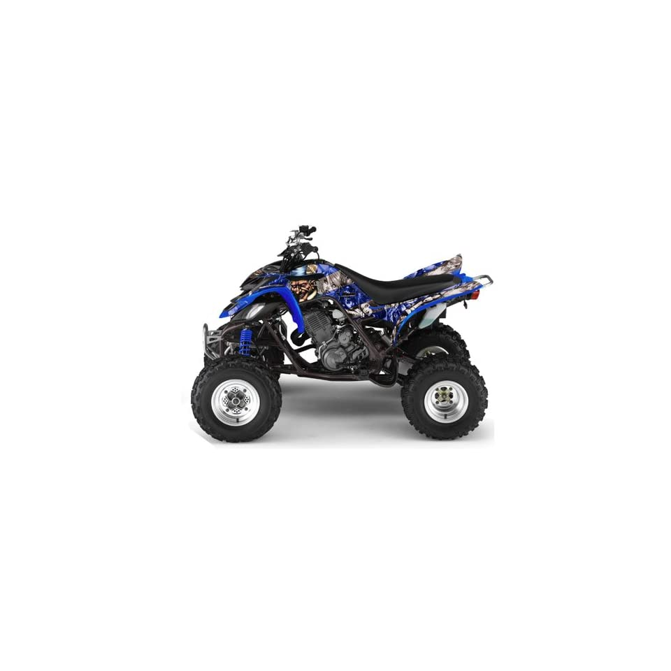 AMR Racing Yamaha Raptor 660 ATV Quad Graphic Kit   Madhatter Blue, Silver