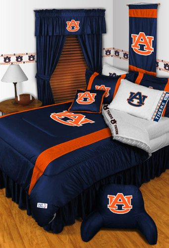 NCAA Auburn Tigers - 5pc BED IN A BAG - Queen Bedding - Set Auburn Bed