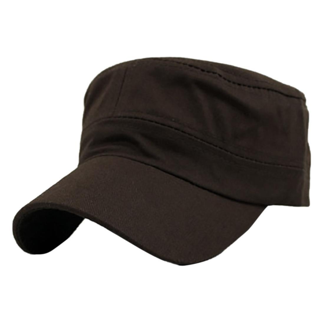 a77b22252d6 Amazon.com  SUEKQ Unisex Polyester Twill Adjustable Corps Hat Army Military  Style Cadet Hat Fisherman Hat Baseball Cap for Women Men (Black)  Home ...