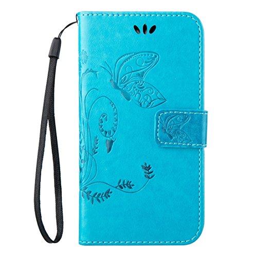 Mobile Phone Cases&decorate Huawei Mate 8 Crazy Horse Textura de impresión Horizontal Flip caja de cuero con titular y ranuras para tarjetas y billetera y cordón ( Color : Coffee ) Blue