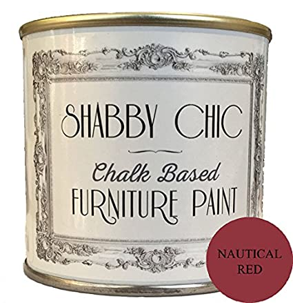 Phenomenal Nautical Red Shabby Chic Chalk Based Furniture Paint 250Ml Download Free Architecture Designs Lukepmadebymaigaardcom