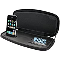 iHome iP38 Portable Stereo Alarm Clock for iPod and iPhone (Black)