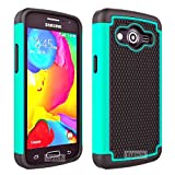 8gtech Teal Heavy Duty Hybrid Hard Silicone Case Cover For Samsung Galaxy Core LTE SM-G386W G386F +Screen Protector