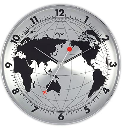 50e4836a5ac Buy Opal World Map Printed Round Stainless Steel Case Clock Online ...