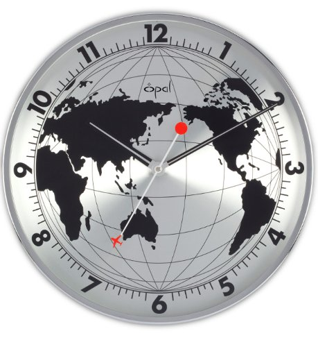 Buy opal world map printed round stainless steel case clock online opal world map printed round stainless steel case clock sciox Images
