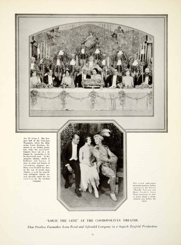 Costume De Louis 14 (1925 Print Louis 14th Opera Comedy Dorothy Pateson Harry Fender Ziegfeld Costume - Original Halftone Print)