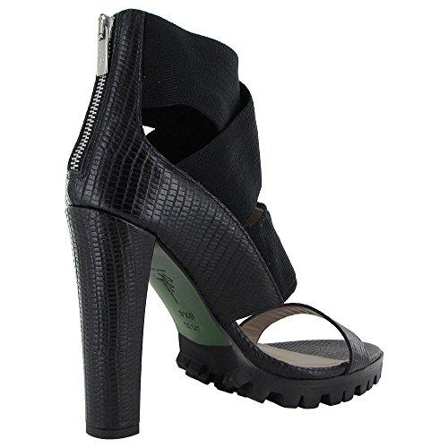 Donald J Pliner Signature Womens Hashia-82 Pump Sandal Shoe Black Hagedis Print
