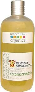 Nature's Baby Organics, Shampoo & Body Wash, Coconut Pineapple, 16 oz (473.2 ml)