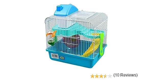 DI ZE LIN PET HOME S.L DZL® Jaula para hamster 27*21*25cm caseta ...