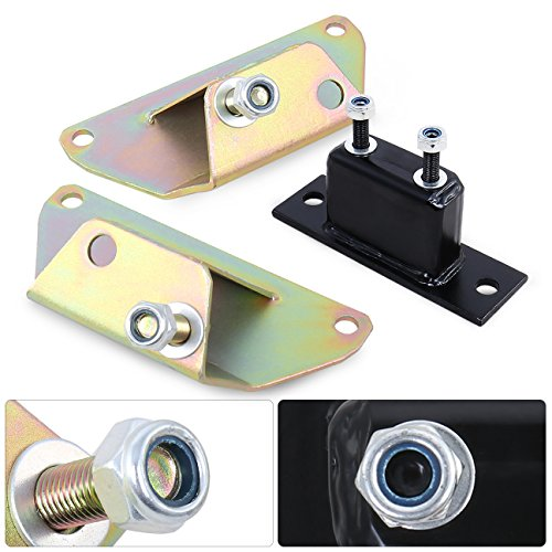 AJP Distributors Engine Motor Solid Trans Mount Kit For Ford Mustang Fox Body 5.0L V8 Neochrome Stability Transmission Performance Upgrade (Fox Engine)
