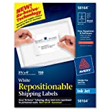 Avery Repositionable Shipping Labels for Inkjet Printers, 3.33 x 4 Inches, White, Box of 150 (58164), Office Central