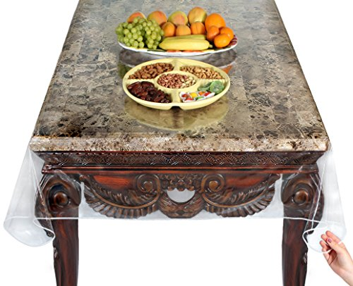 Venice Collections Super Clear Extra Heavy Duty, Durable 100% Vinyl Tablecloth protector & Table cover Size 60 X 90 Inches Oblong