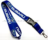 JDM Lanyard Blue Subaru Keychain Neck Strap Cell Phone ID Key Chain