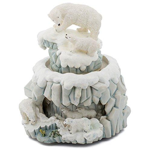 Double Revolving Music Box : Polar Bear  - Polar Bear Cubs Shopping Results