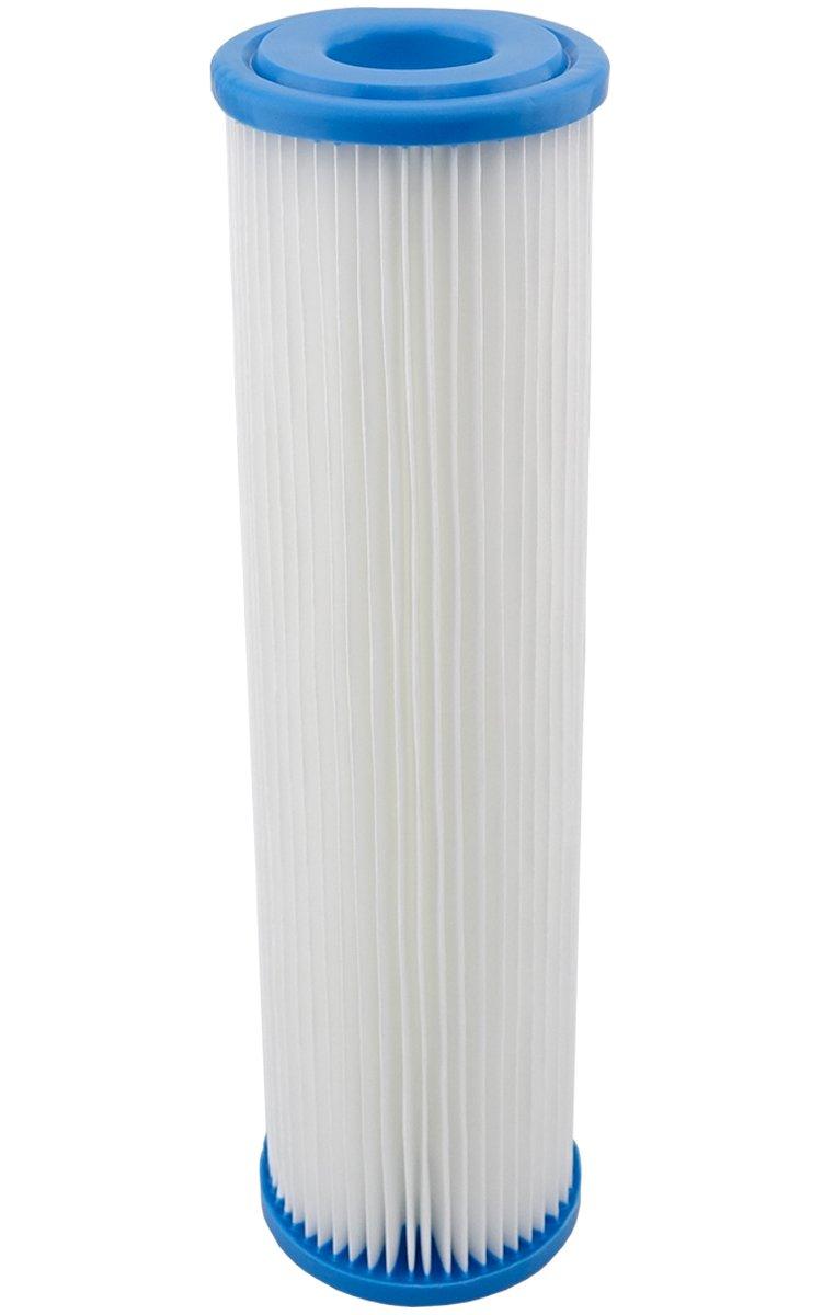 FF-3Stk. Filtereinsatz fü r 10'(254mm) Filtergehä use, Filterkartusche fü r Pumpenfilter, Hauswasserwerke Vorfilter, Wasserfilter, Sandfilter. Filter Membran Polypropylen Faltenfilter. (3) Filtrotech GmbH