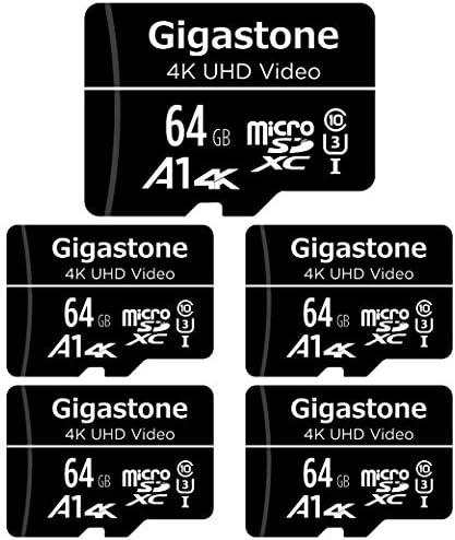 Gigastone Tarjeta de memòria Micro SDXC de 16GB con Adaptador SD, (Classe 10, U1,C10, 5 paquets). Velocidad de Lectura/Escritura hasta 90/20 MB/s.Compatible con Mòbil, cámara de Coche etc.: Amazon.es: Electrónica