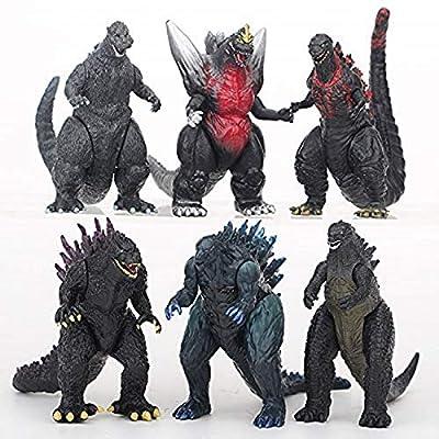"LBJ Godzilla 6 Piece Set (4"" - 5""): 6 Godzilla variants Including Space Godzilla, Final Godzilla, and Kiryu Goji: Toys & Games"
