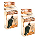 Copper Hands Fingerless Compression Gloves by BulbHead, Provides Relief from Joint, Tendon, & Muscle Pain (2 Pack)