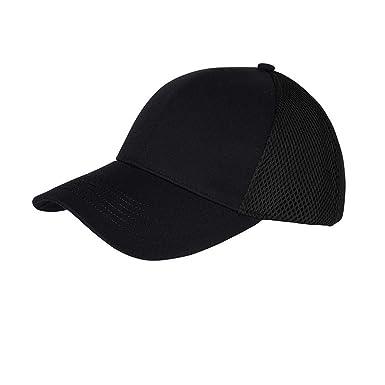 18d1493d6d7 Myrtle Beach Adults Unisex 6 Panel Air Mesh Cap (One Size) (Black)   Amazon.co.uk  Clothing